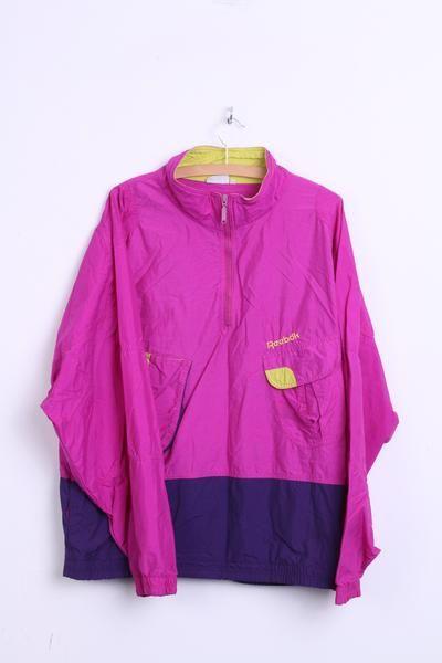 Reebok Womens 2XL Track Top Jacket Sport Vintage Festival - RetrospectClothes