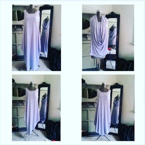 Multi way lilac metallic dress made on request