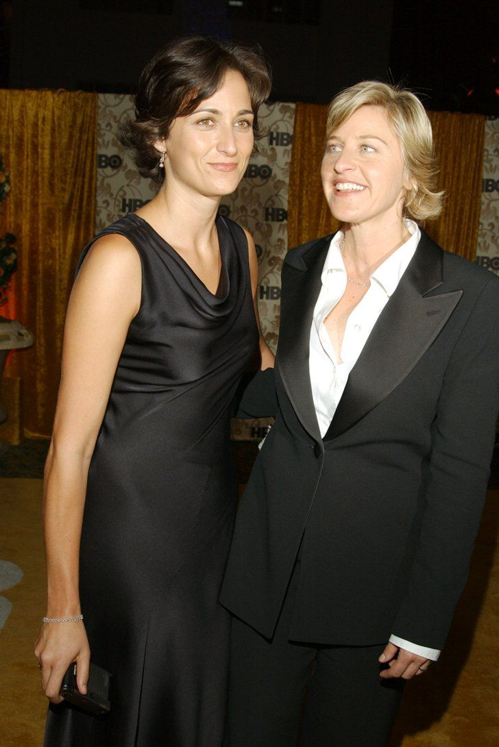 Pin for Later: Look Back at the Former Couples You Forgot Attended the Emmys Together Ellen DeGeneres and Alexandra Hedison, 2002