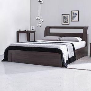 Sutherland Hydraulic Storage Bed (Queen Bed Size, Dark Oak Finish)