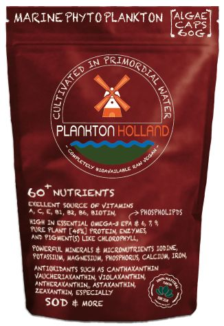 Marine PhytoPlankton Capsules 120 stuks [ Omega-3 EPA ] + 6/7/9 Selenium Jodium Antioxidanten Chlorofyl Eiwit [45%] VEGANISTISCH
