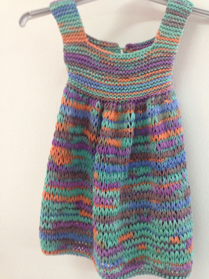 Vestido niña, tejido en dos agujas con cinta jaspeada de algodón 100% ÁGATA de Mondial