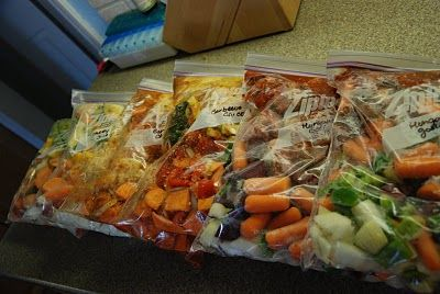 Ready-to-go freezer meals for the crockpot