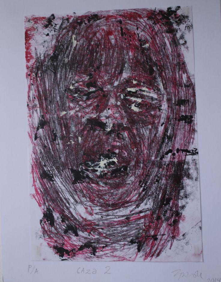 Serie Gaza # 2 Grabado sobre Papel 28x22 cm