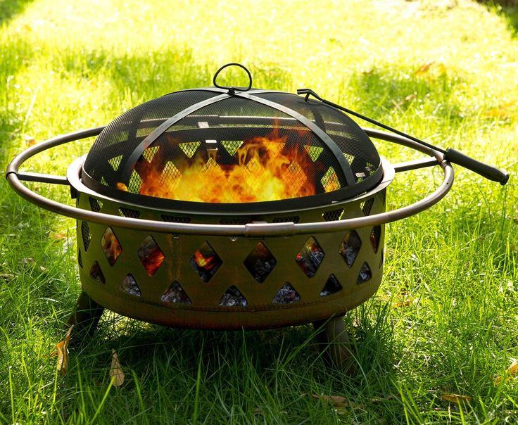 Patio Outdoor Cast Iron Bowl Fire Pit Fire Bowl
