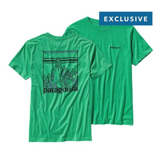 PATAGONIA MEN'S ETCHED MOUNTAIN LIGHTWEIGHT COTTON T-SHIRT