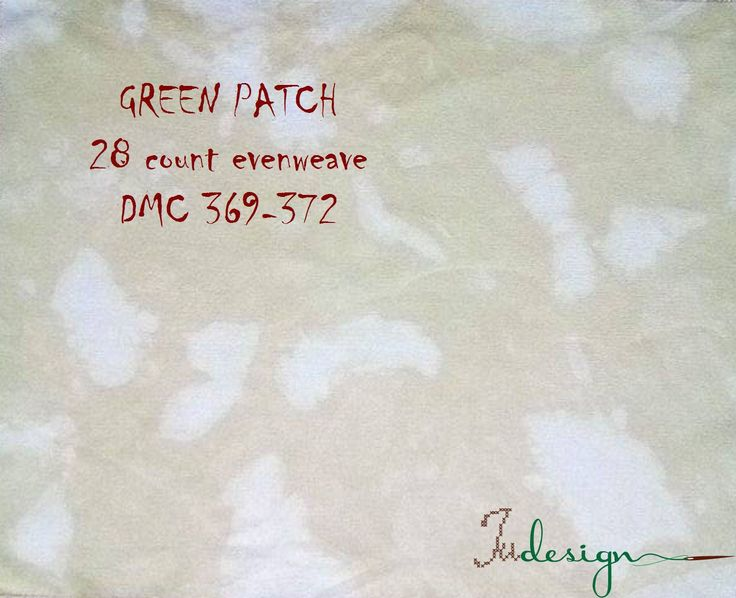 28 count GREEN PATCH hand dyed evenweave for cross stitch, hardanger, blackwork, embroidery works 17x21 inch by xJudesign on Etsy