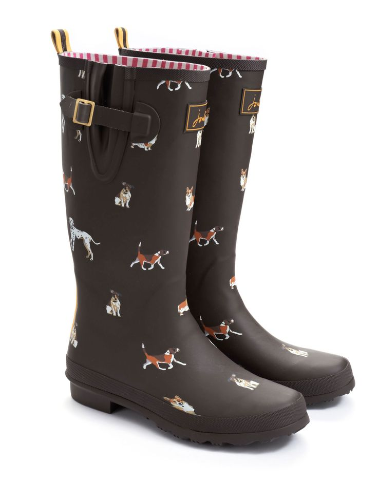 Joules dog print welly