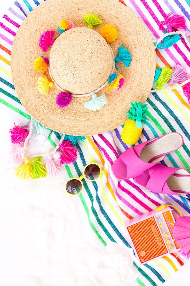 DIY Summer Hat Tassel Straps