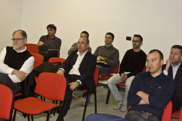 La platea del workshop: Honda, Fater Procter and Gamble, Alfagomma, Imm Hydraulics, Executive Services, Abruzzo Economia