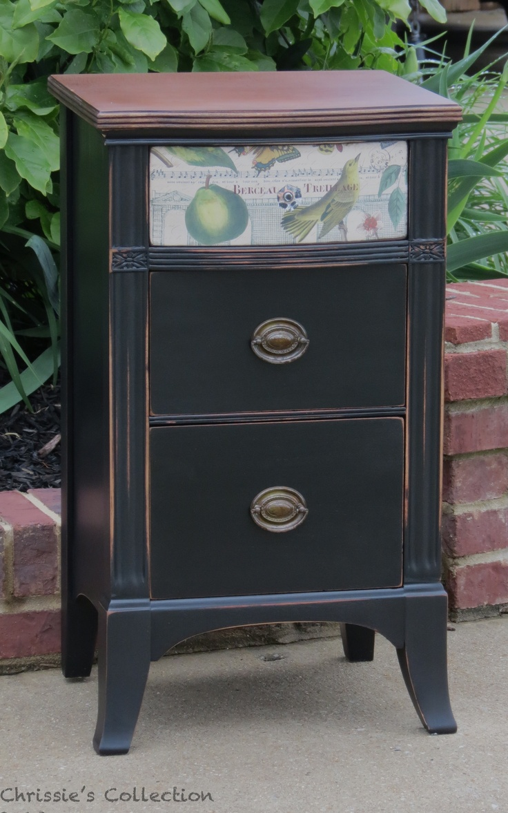 Black Painted Nightstand In General Finishes Lamp Black
