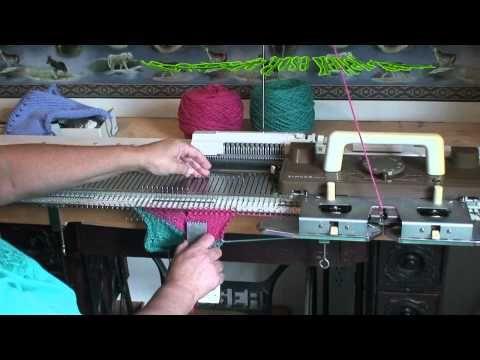 Machine Knit Zig Zag fabric - YouTube