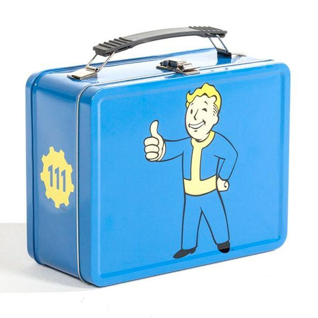 Image result for Fallout blue vault boy lunch box