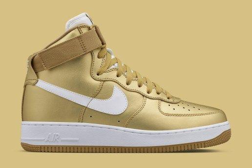 "Nike Air Force 1 High ""Metallic Gold"""