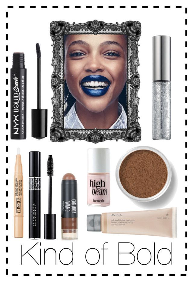 """Kind of Bold"" by kiwijulin on Polyvore featuring beauty, NYX, Bare Escentuals, Benefit and Christian Dior"
