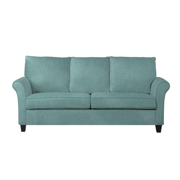 Portfolio Radford Turquoise Velvet Sofast Sofa Overstock Shopping Great Deals On Portfolio