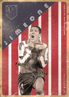The Gods Of Football (Part I) by Marija Marković on Behance — Diego Pablo Simeone González, Argentina