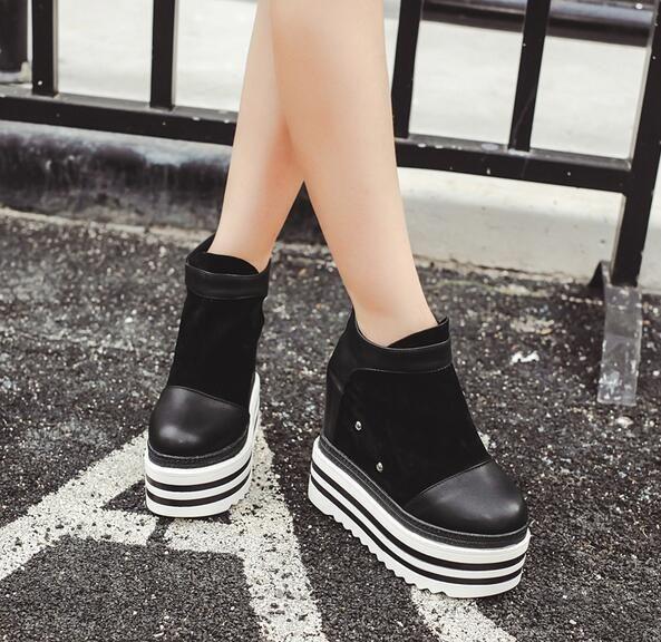 8 Free Gratuite Vogue Bout Rond Plate Forme Pompes Bagatelle Chaussures Femmes Talons hauts Bottes Augmenter Hiver De Mode Cales D'épaisseur inférieure dans de sur AliExpress.com | Alibaba Group