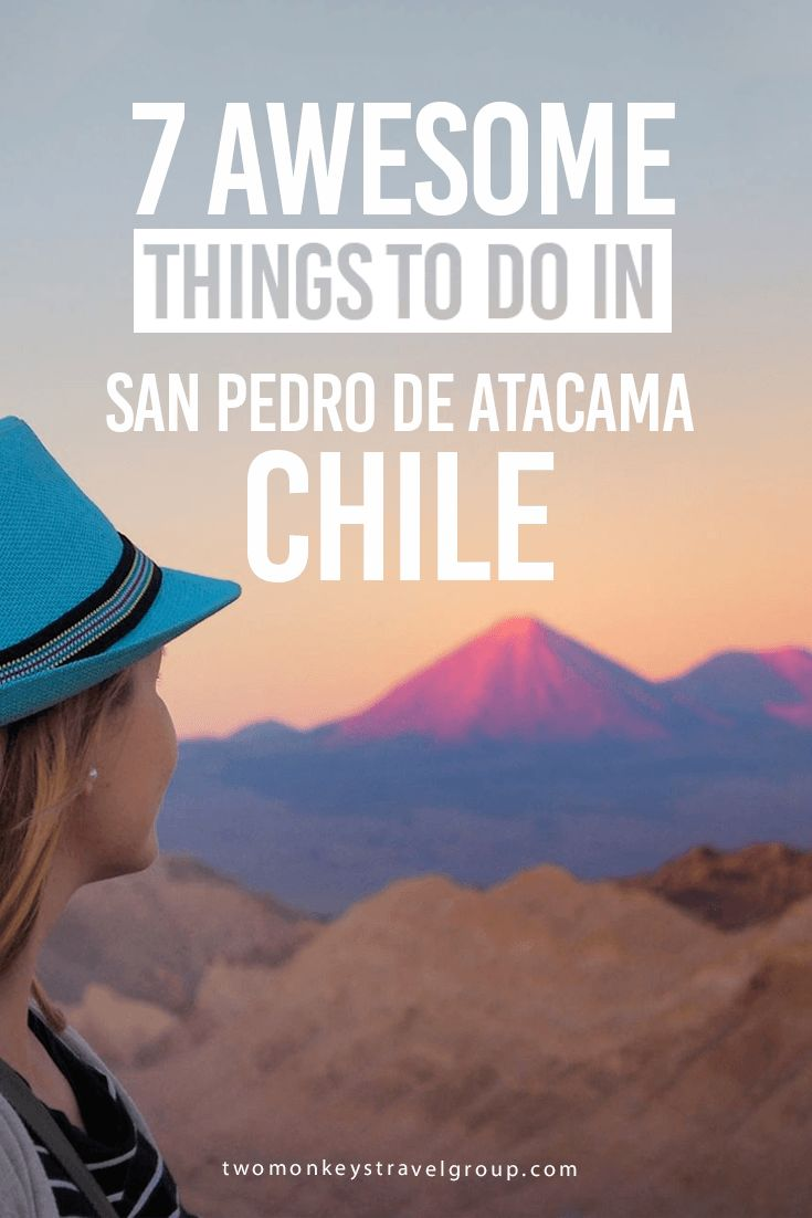 7 Awesome Things to Do in San Pedro de Atacama, Chile Atacama desert is not only the driest place on Earth but also a place that can surprise you quite a bit. If you imagine sandy lands as far as you can see, you will be disappointed as the Atacama is a feast for the eyes. From the mountains, salt flats, volcanoes, pink flamingoes, blue lagoons to many different shades of blues, pinks, and purples at sunset, Atacama will make a trip hard to forget.