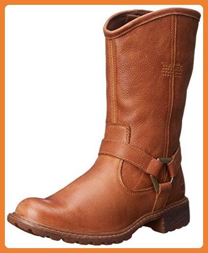 Timberland Earthkeepers Stoddard Mid, Damenstiefel, braun, Medium Braun (Rawhide Rugged), 6 UK - Stiefel für frauen (*Partner-Link)