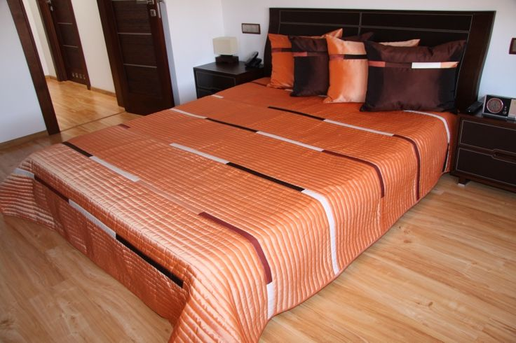 Luxusní přehoz na postel oranžový
