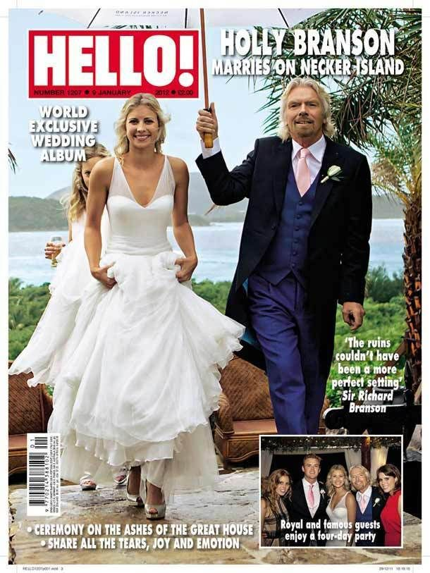 Hello Magazine Richard Branson Daughter Holly Wedding Royal And Family Guests Holly Branson Hello Magazine Celebrity Wedding Photos