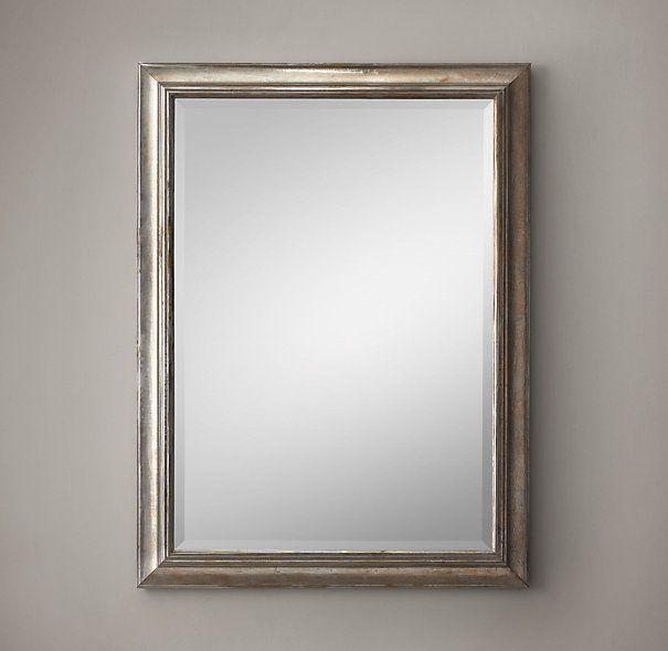 "English Aged Nickel Mirror 36"" x 48"""