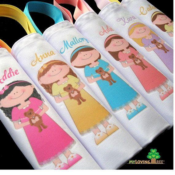 Personalizzato sleepover partito pigiama party compleanno o pigiama party a tema favorisce goody borse per ragazze