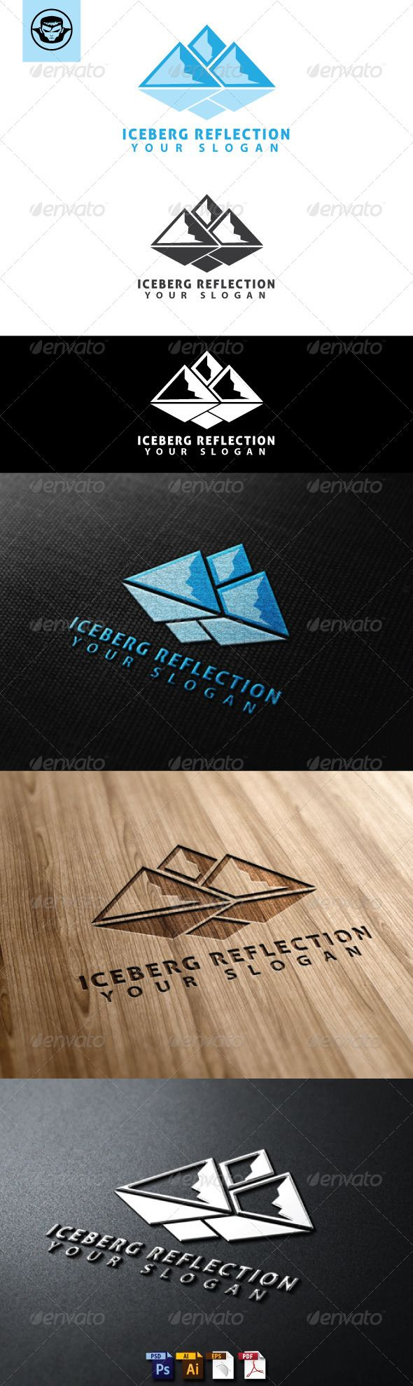 Iceberg Reflection Logo Template #GraphicRiver Iceberg Reflection Logo Template is An excellent logo template highly suitable for logo company, office, organization, studio, Production, Film, Movie These files consists of resizable vector format files like AI, EPS , and PDF . Also PSD format for raster version alternative. font used Aller Created: 22May13 GraphicsFilesIncluded: PhotoshopPSD #VectorEPS #AIIllustrator Layered: Yes MinimumAdobeCSVersion: CS Resolution: Resizable Tags: antarctica #b