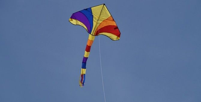 Flying Kite Is A Fun