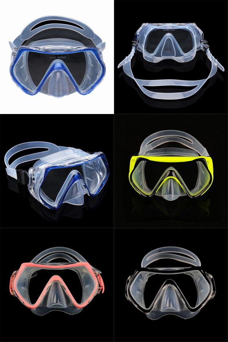 [Visit to Buy] 16*9cm 4 Colors Anti-fog Diving Mask Professional Swimming Goggles Diving Equipment Swim Sportswear #Advertisement