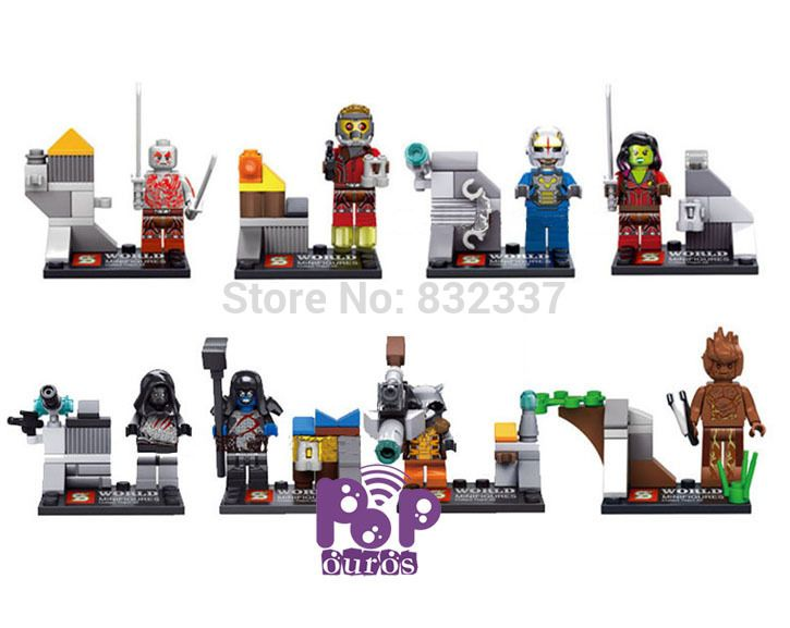 Cheap movie record, Buy Quality movies block directly from China movie toy story 3 Suppliers: Hot Movie Anime Guardians of the Galaxy Building Blocks Drax Groot Rocket Raccoon ABS Minifigures Brick Toys 8pcs/lotSiz
