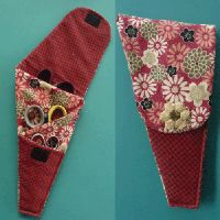 3-Pocket Scissors Case - Tired of losing your scissors and need a way to carry your scissors back and forth without them sliding around or falling out of your bag? How about protecting not one, but three pairs of scissors at a time?