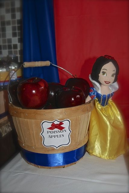 """Poison"" apples at a Snow White Birthday Party!  See more party ideas at CatchMyParty.com!"