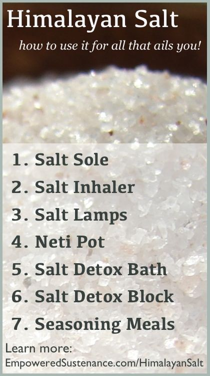 The benefits of real or himalayan salt go on and on. Learn how to use it for all that ails you -- including cough and inhaler uses, sole, etc.