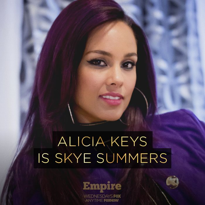Empire (Fox-November 25, 2015) Season 2-Episode 9-Sinned Against- Alicia Keys guest stars as Skye Summers, as a pop star musician who promotes a song with Jamal (Jussie Smollett). She is going to record her first song on Jamal's new album. They have a special connection through music.