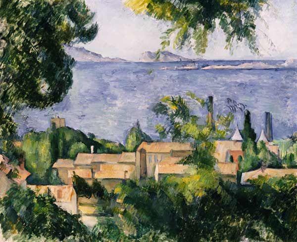 Titre de l'image : Paul Cézanne - The Rooftops Of L''Estaque