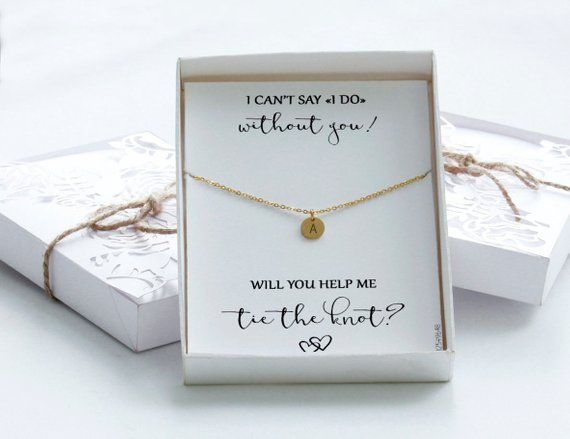 Bridesmaid Proposal Will You Be My Maid Of Honor Bridesmaids Gifts Bar Initial Necklaces Bridesmaid Proposal Maid Of Honour Gifts Bridesmaid Proposal Box