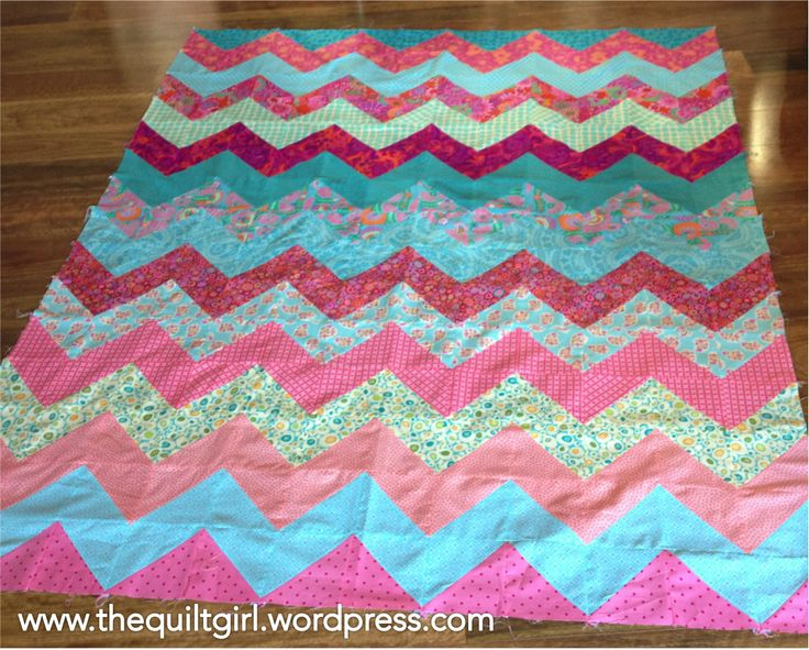 Pink and blue quilt almost ready to quilt!