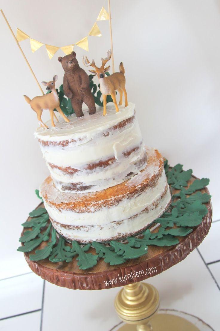 First birthday cake , naked cake , smash cake , cupcakes , first birthday cupcakes , rustic cake
