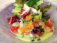 ランチコースの前菜から「焼霜にしたイサキと帆立貝 胡瓜のソース」SAKANAZA MAEDA サカナザ マエダ 大阪心斎橋のフレンチ