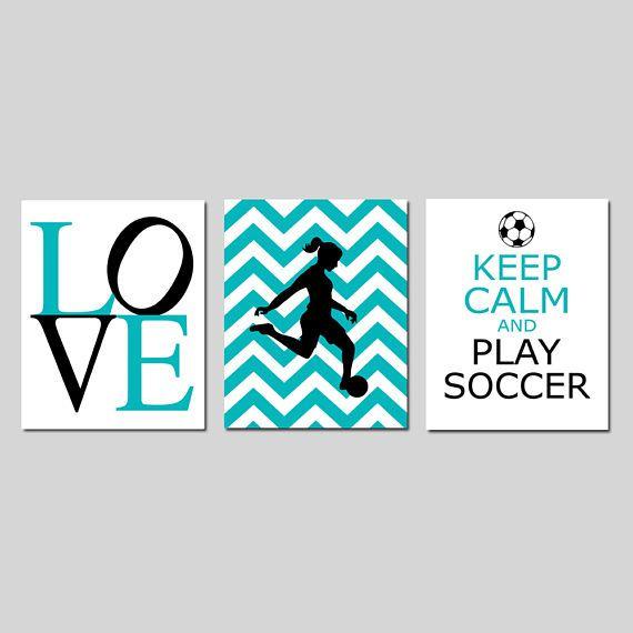 Soccer Decor Girl Bedroom Decorations Soccer Wall Art for Girl