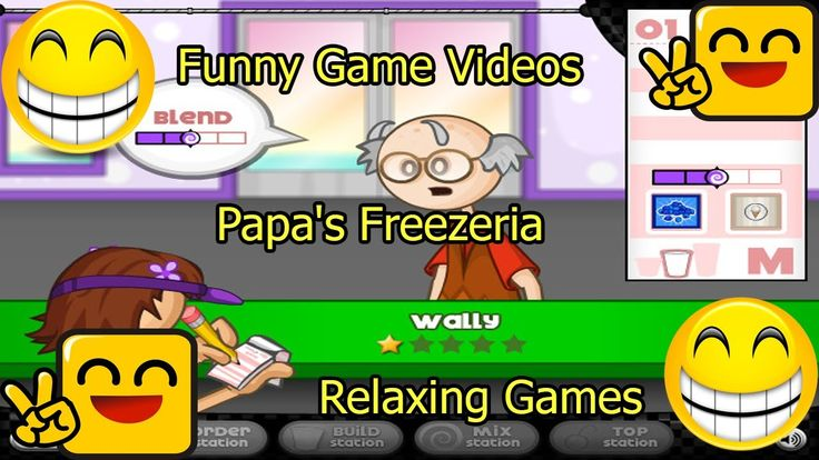 Funny Game Videos | Relaxing Games | Papa's Freezeria # 12
