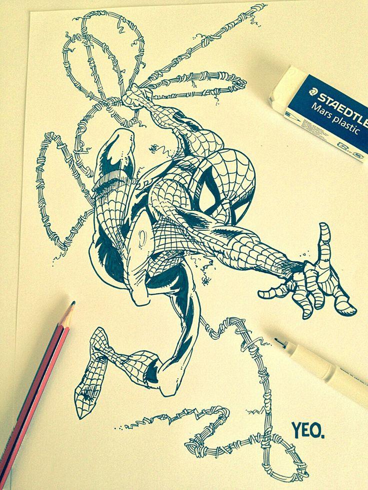 Spidey sketch by ShaunYeo.deviantart.com on @deviantART