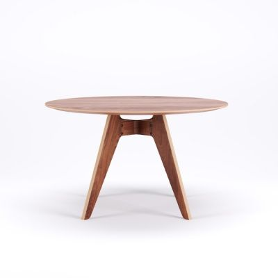 LAVITTA ROUND TABLE 120 CM - 4-LEGGED WALNUT