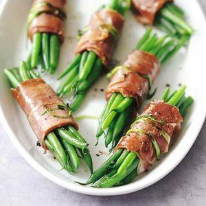 Recept - Haricots verts met serranoham - Allerhande