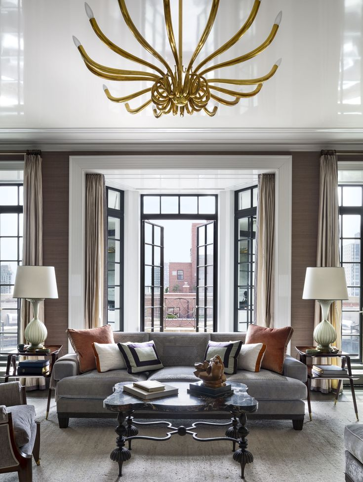Inside a manhattan penthouse by robert a m stern architects and s r gambrel
