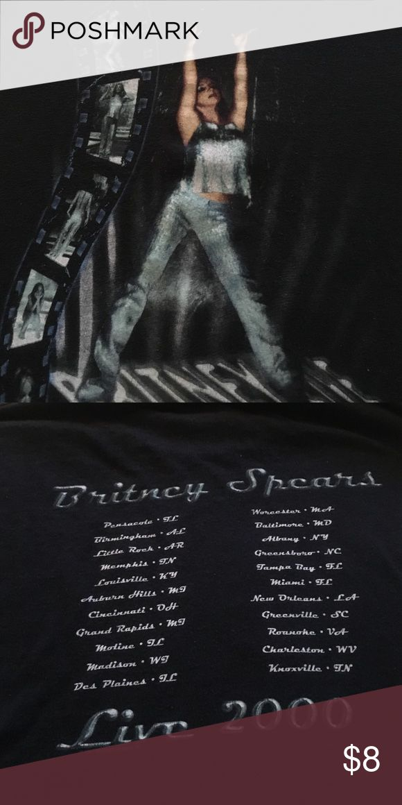 Britney Spears tee shirt Britney Spears 2000 tour tee shirt adult size M very nice condition Shirts Tees - Short Sleeve