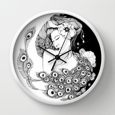 Asian Song Wall Clock by ioanazdralea - $30.00