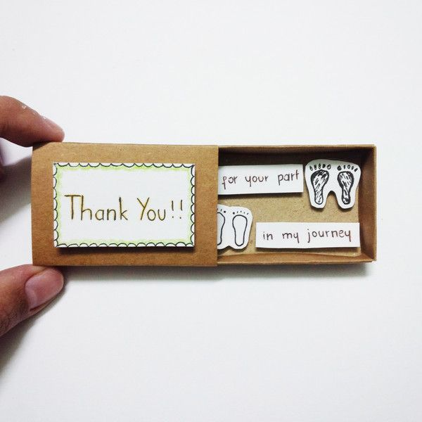 Thank you gift Card Matchbox from JtranJ by DaWanda.com